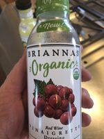 Organic red wine vinaigrette dressing, red wine vinaigrette - Product - en