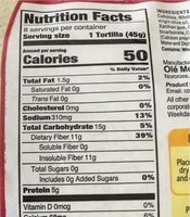 Wrap xtreme spinach and herb - Nutrition facts - en