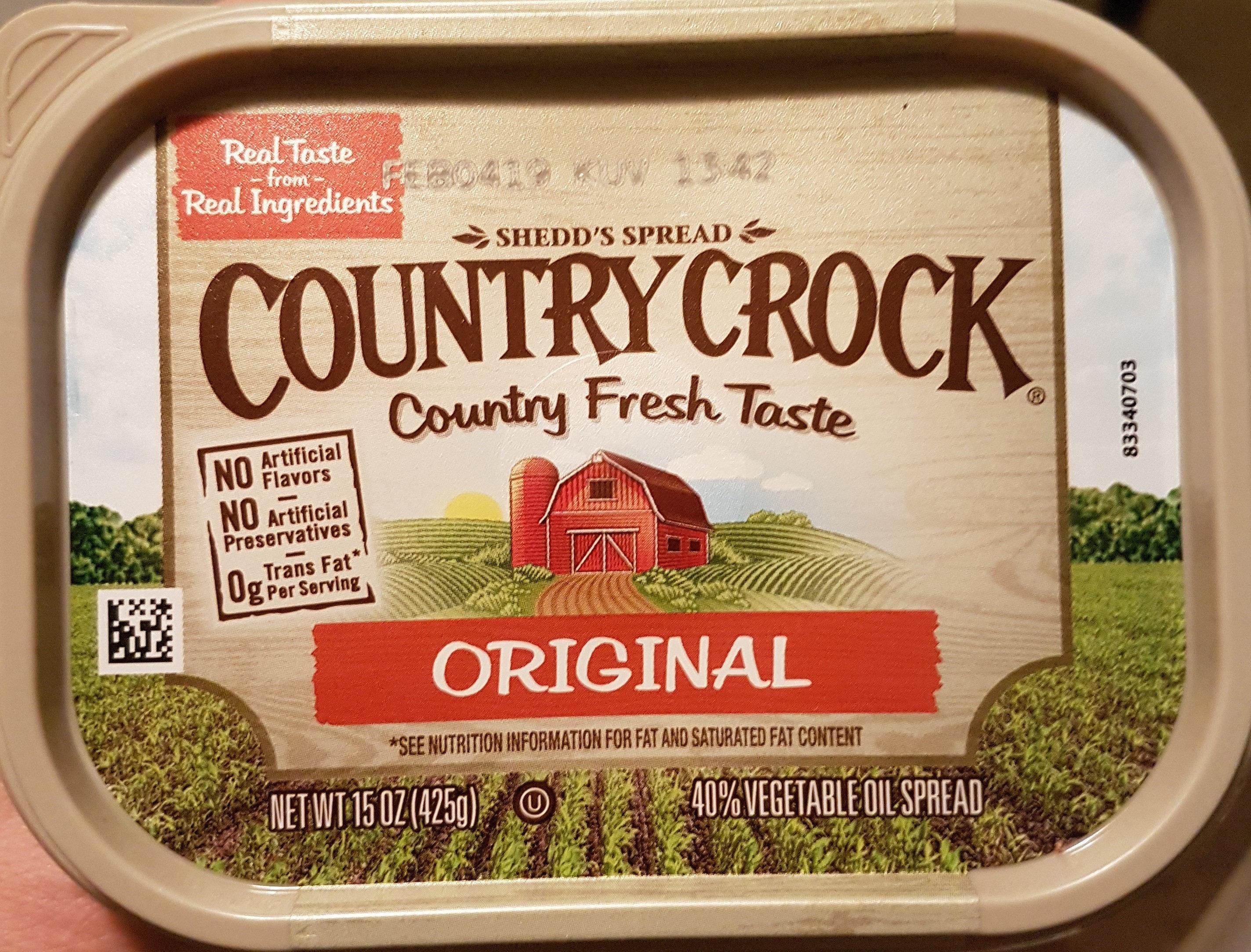 Country crock, original, 40% vegetable oil spread - Product - en