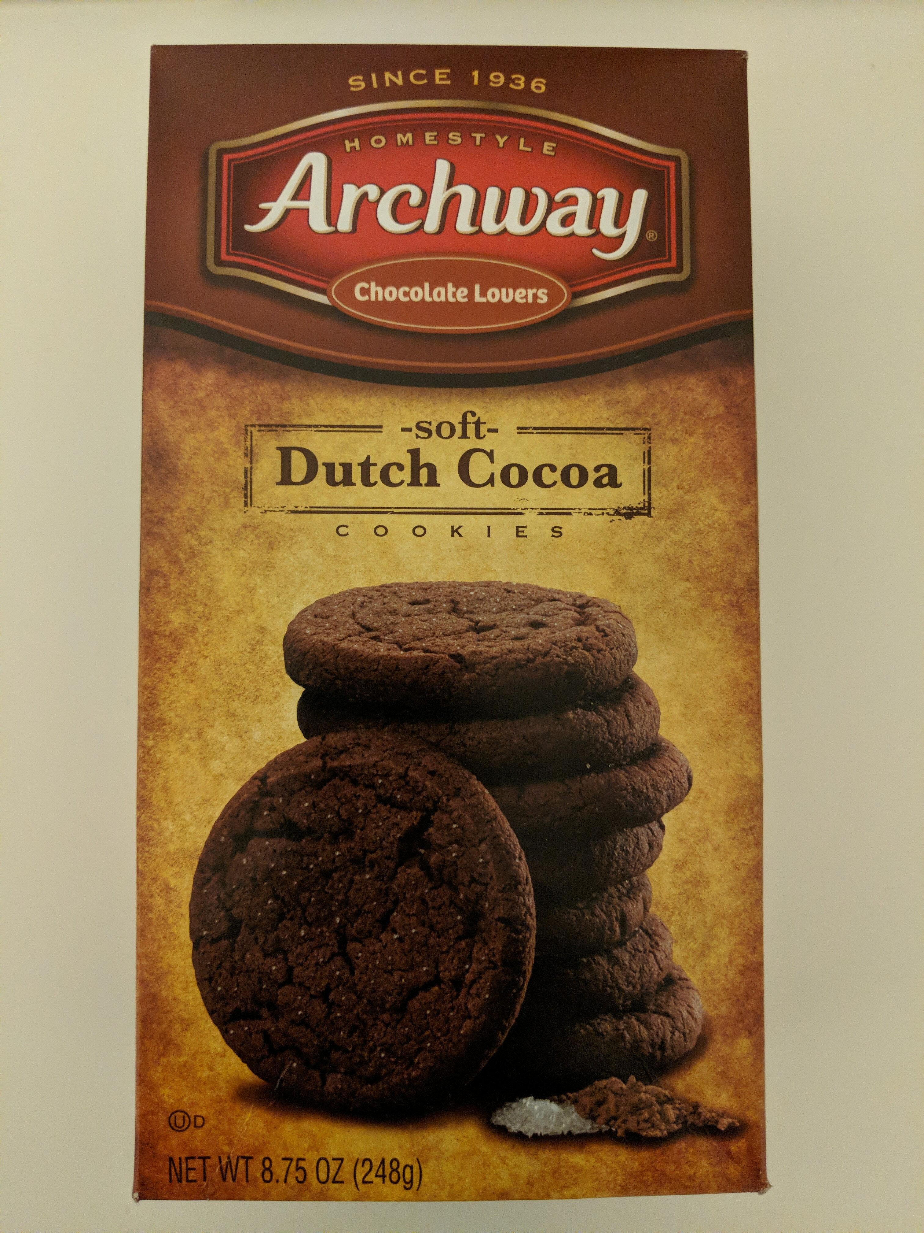 Archway, soft cookies, dutch cocoa, dutch cocoa - Produit - en