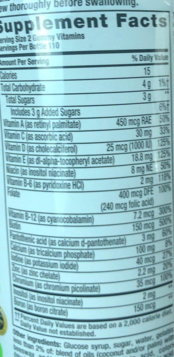 Vitafusion gummy vitamins - Informations nutritionnelles - en