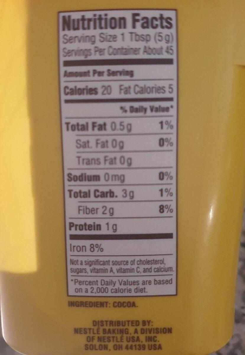 Nestlé roll house cocoa - Nutrition facts - en