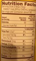 Chocolate flavor milk powder - Informations nutritionnelles - fr