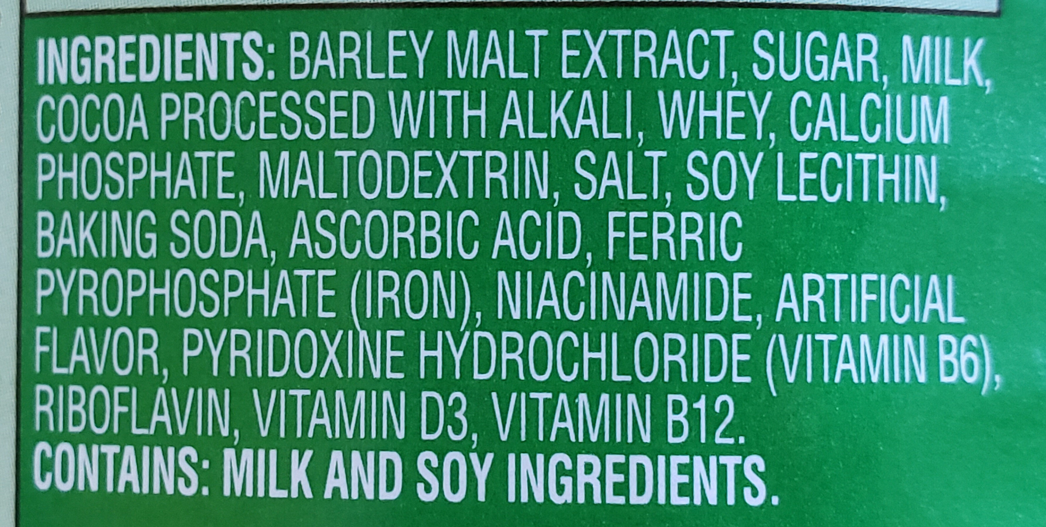 Nutritional drink mix - Ingredients - en
