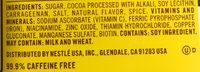 Nestle Nesquik Powder Chocolate - Ingredientes