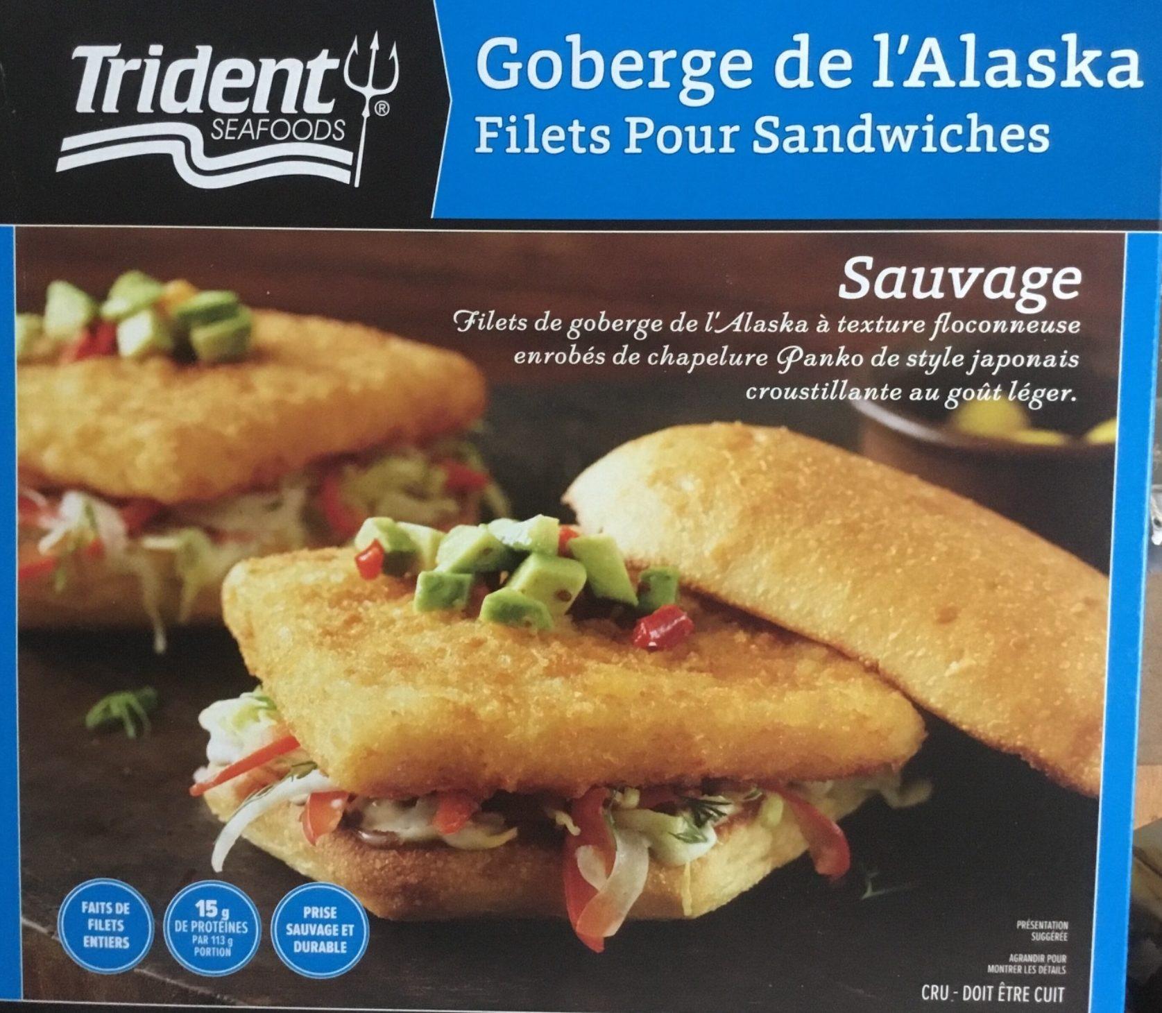 Filets de Goberge de l'Alaska pour sandwiches - Product