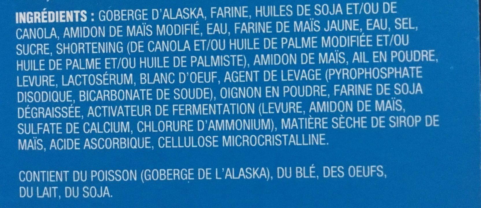 Filets de Goberge de l'Alaska pour sandwiches - Ingredients