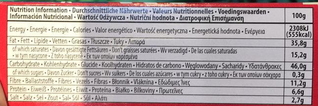 Jolly time, popcorn, butter - Nutrition facts - en
