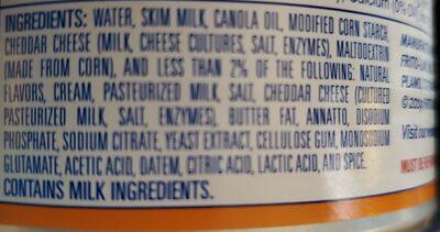 Mild cheddar dip - Ingrédients - en