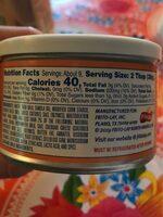 Mild cheddar dip - Informations nutritionnelles - en