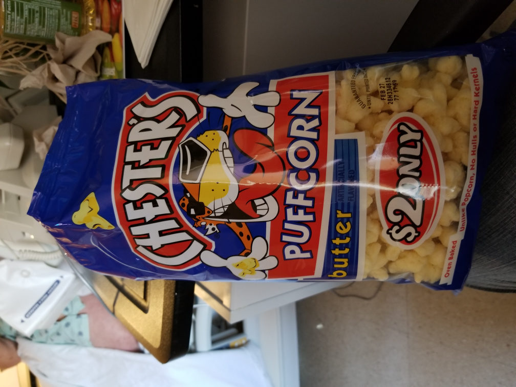 Chester's PuffCorn Butter Puffered Corn Snacks 3.5 Ounce Plastic Bag - Product - en