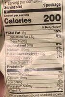 Kettle cooked potato chips - Valori nutrizionali - es