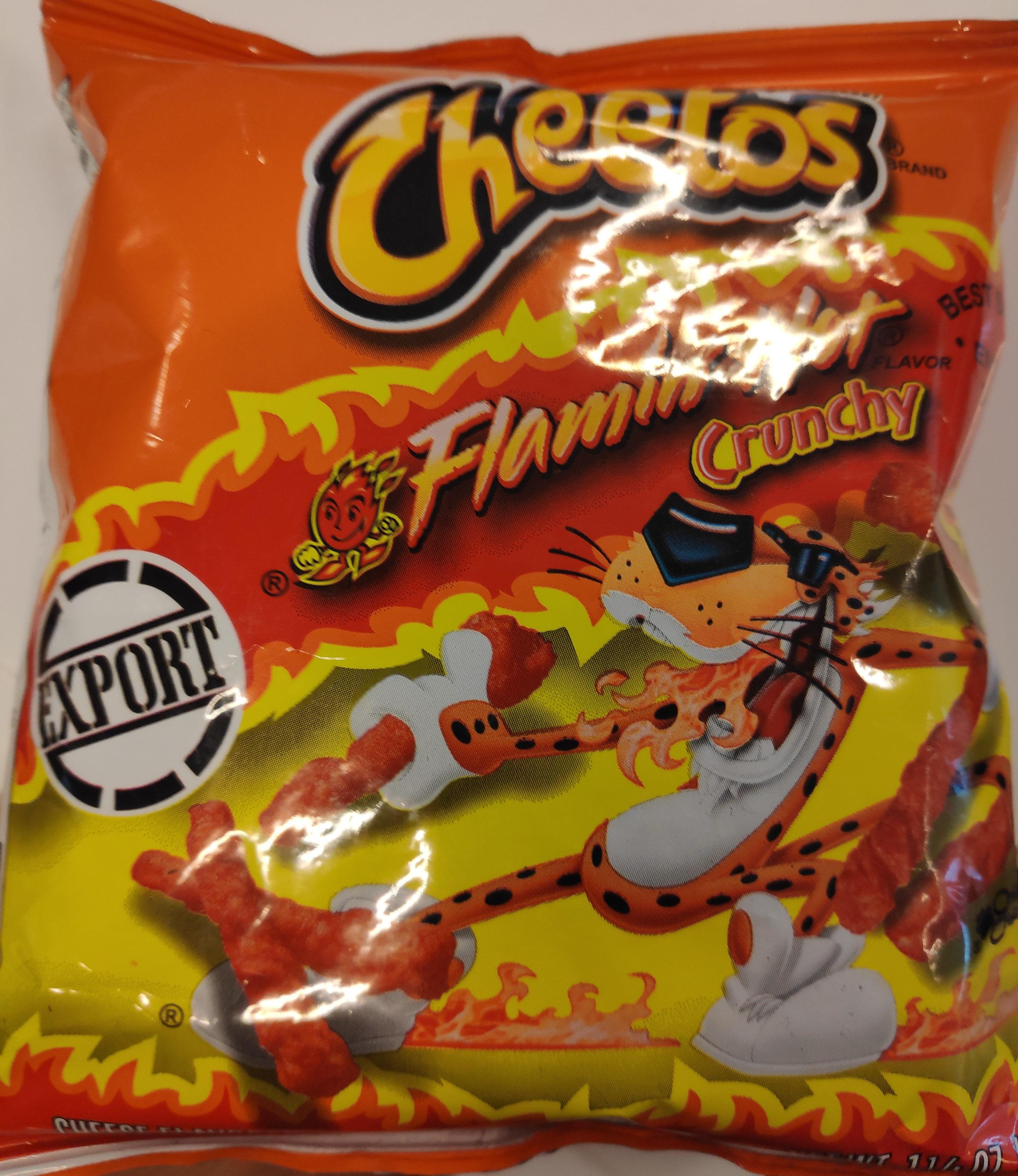 Cheetos Cheese Flavored Snacks Crunchy, Flamin' Hot - Produit