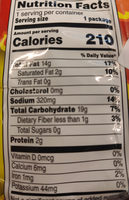 Cheetos Cheese Flavored Snacks Crunchy, Flamin' Hot - Informations nutritionnelles