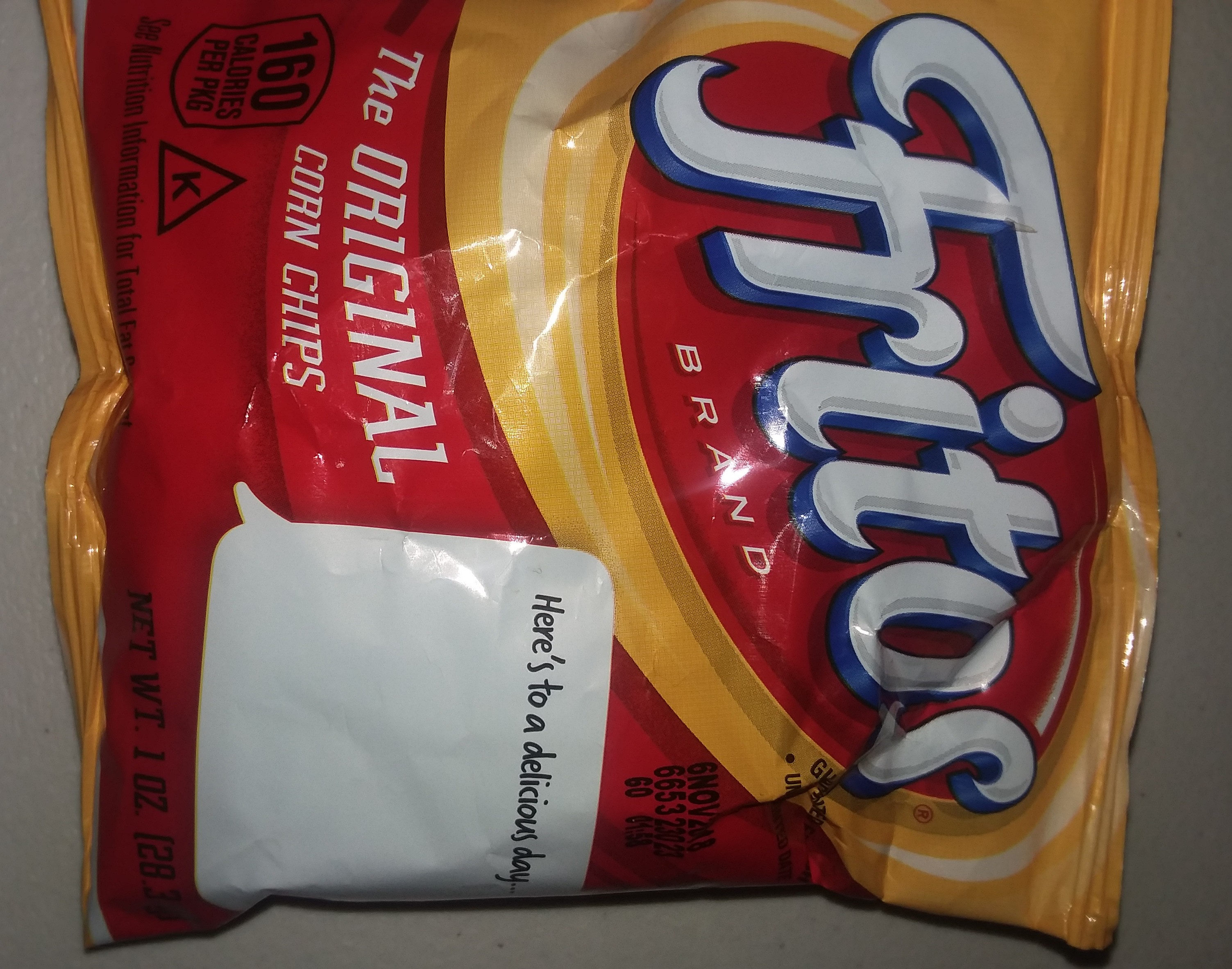 Fritos Original Corn Chips 1 Ounce Plastic Bag - Product - en