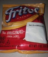 Fritos Original Corn Chips 1 Ounce Plastic Bag - Ingredients - en