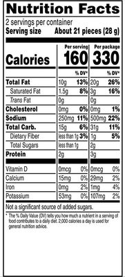 Cheetos Crunchy - Nutrition facts