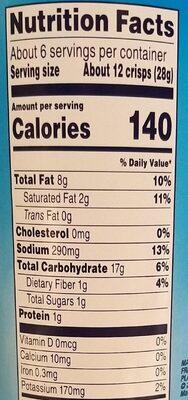 Stax Salt & Vinegar - Nutrition facts - en