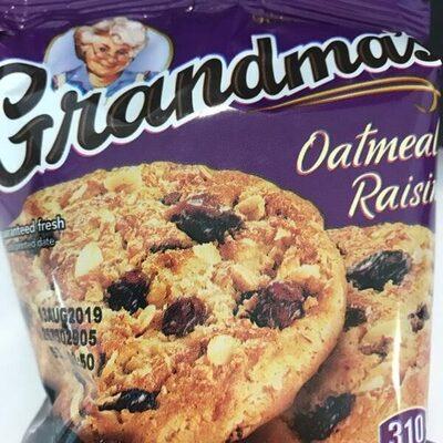 Grandma's Oatmeal Raisin Cookies 2.50 Ounce Plastic Bag - Product - en