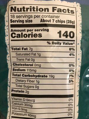 Tortilla chips - Informations nutritionnelles - en