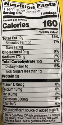 Classic Potato Chips - Nutrition facts