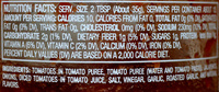 Roasted garlic chunky salsa (medium) - Nutrition facts