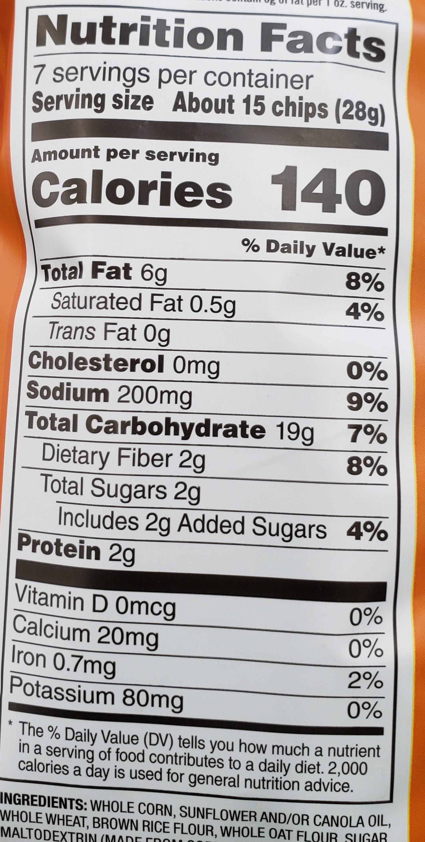 Harvest Cheddar - Nutrition facts
