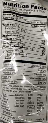 Lay's Classic - Nutrition facts