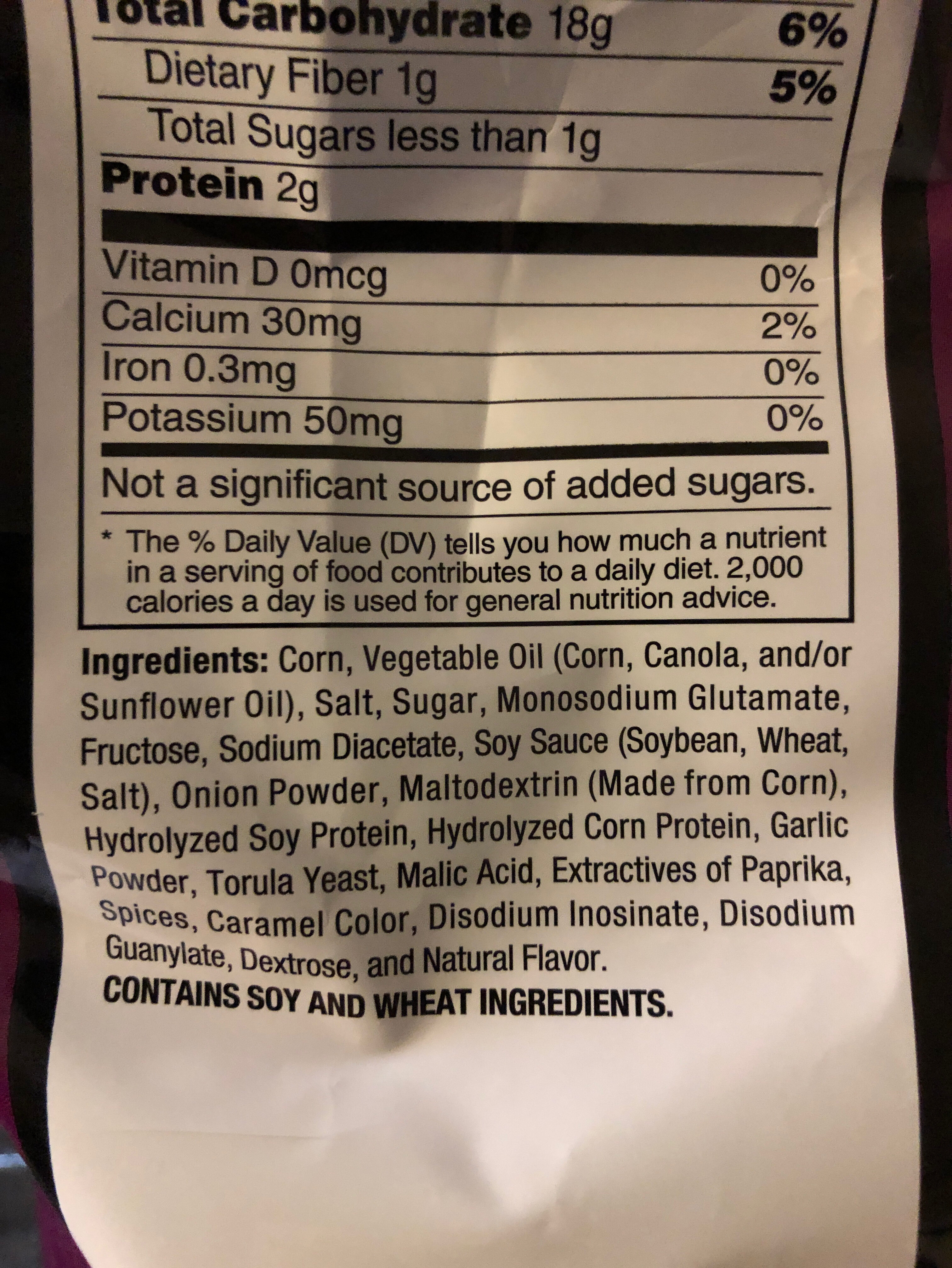 Tortilla chips - Ingredients - en