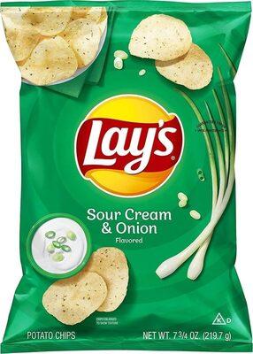 Lay's Sour Cream and Onion Chips - Produit - en