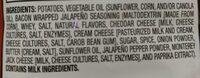 Bacon Wrapped Jalapeño Popper Flavored Potato Chips - Ingredients - en