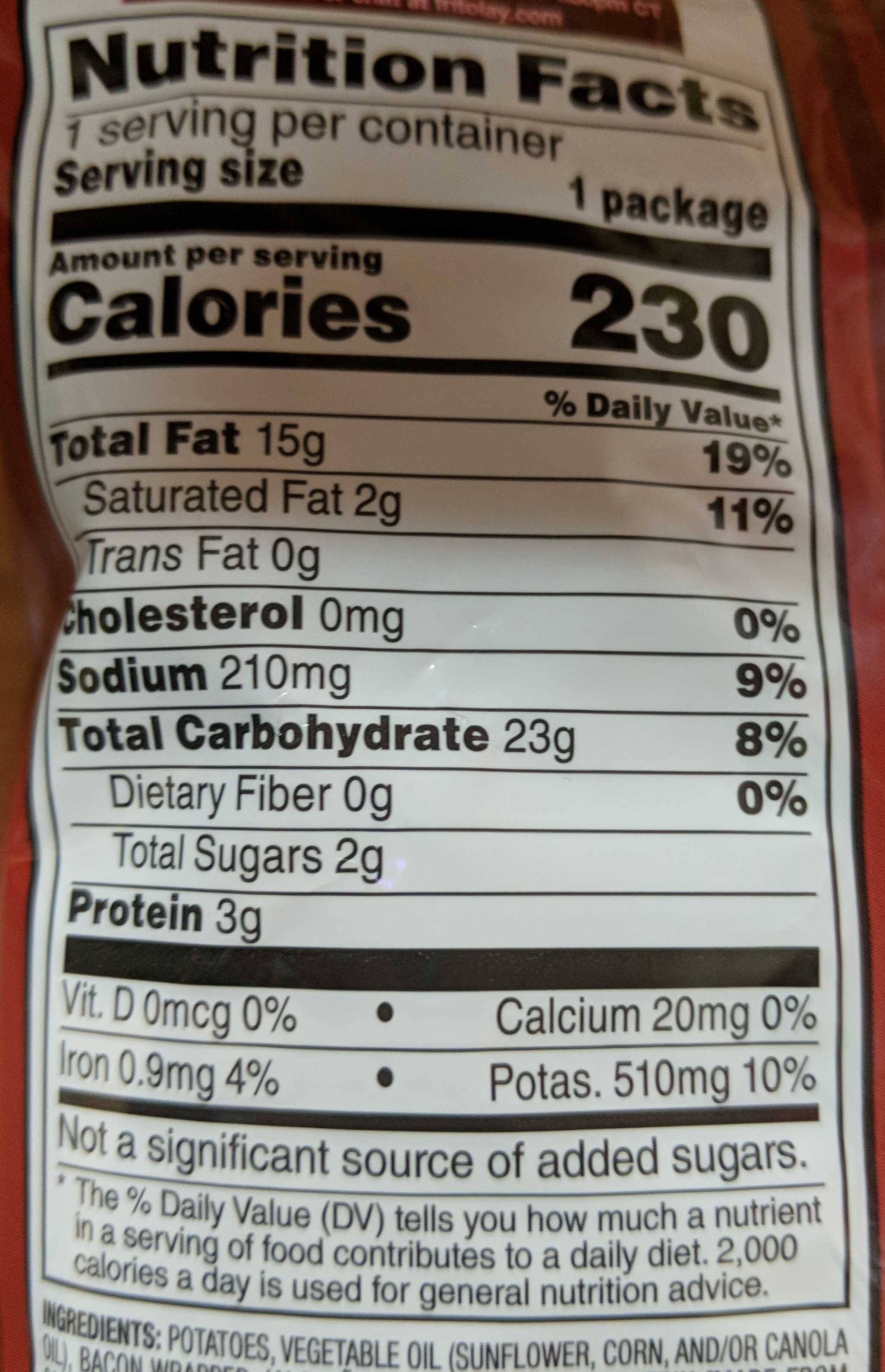 Bacon Wrapped Jalapeño Popper Flavored Potato Chips - Nutrition facts - en