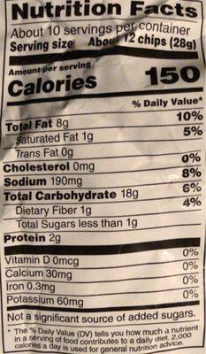 Doritos Flamin Hot Limon - Nutrition facts - en
