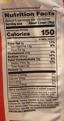 Movie Theater Butter - Nutrition facts - en