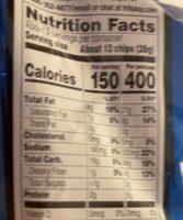 Cool ranch Doritos - Nutrition facts - en