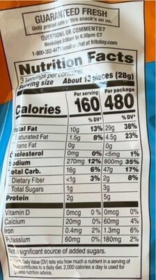 Cheetos Puffs - Nutrition facts - en