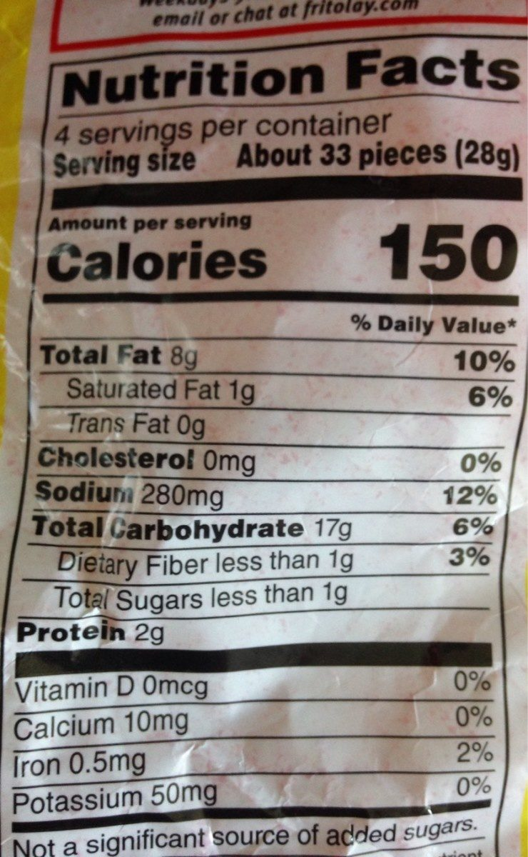 Chester's fries Flamin'hot - Nutrition facts