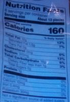 CHEETOS flamin' hot puffs - Nutrition facts - en