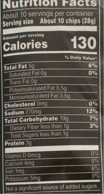 Pita Chips - Valori nutrizionali - en