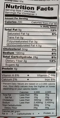 Veggie Harvest - Tomato, Basil & Cheese - Nutrition facts - en