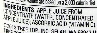 Tree top, 100% apple juice - Ingredients - en