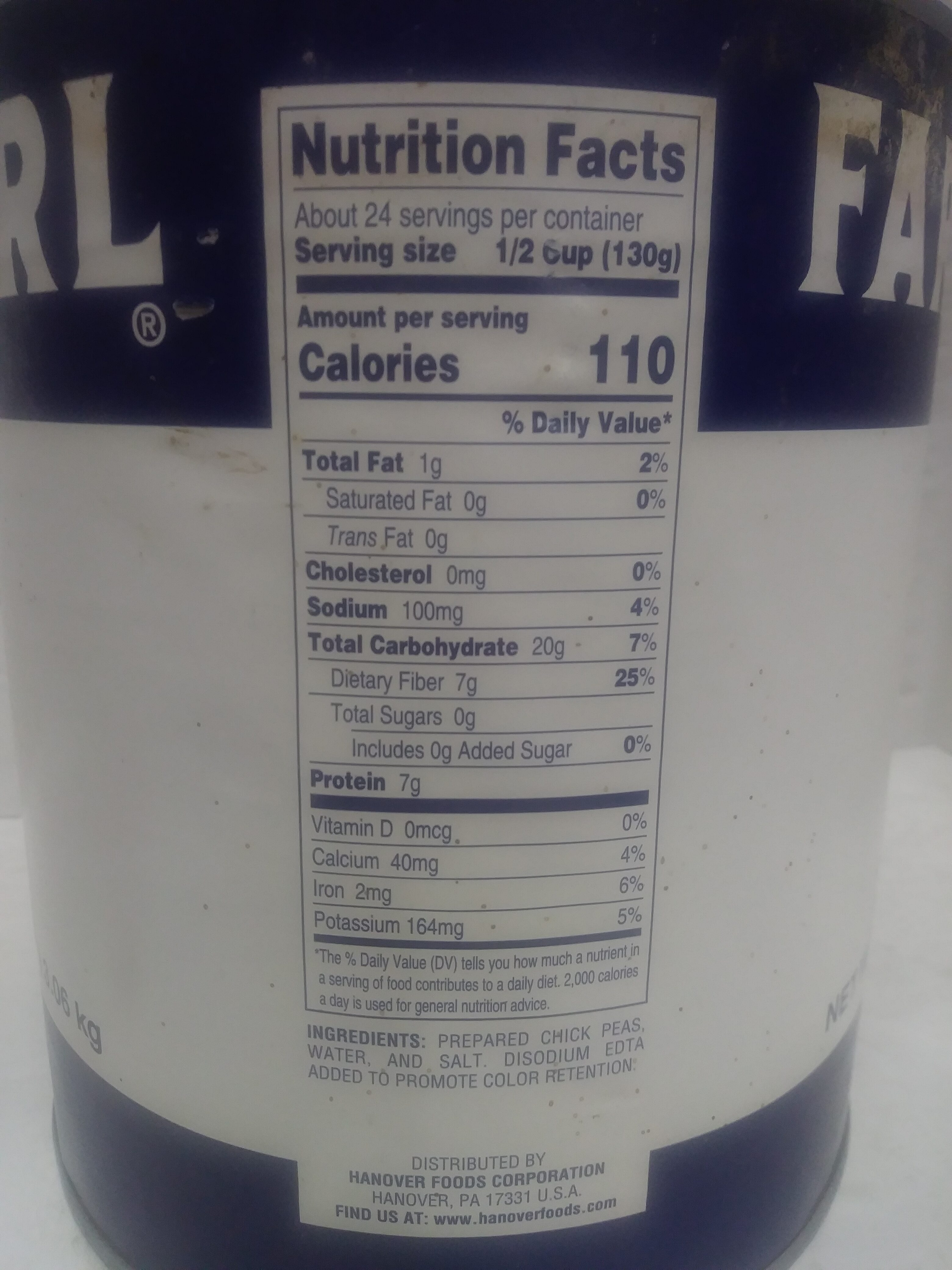 Garbanzo Beans - Ingredienti - en