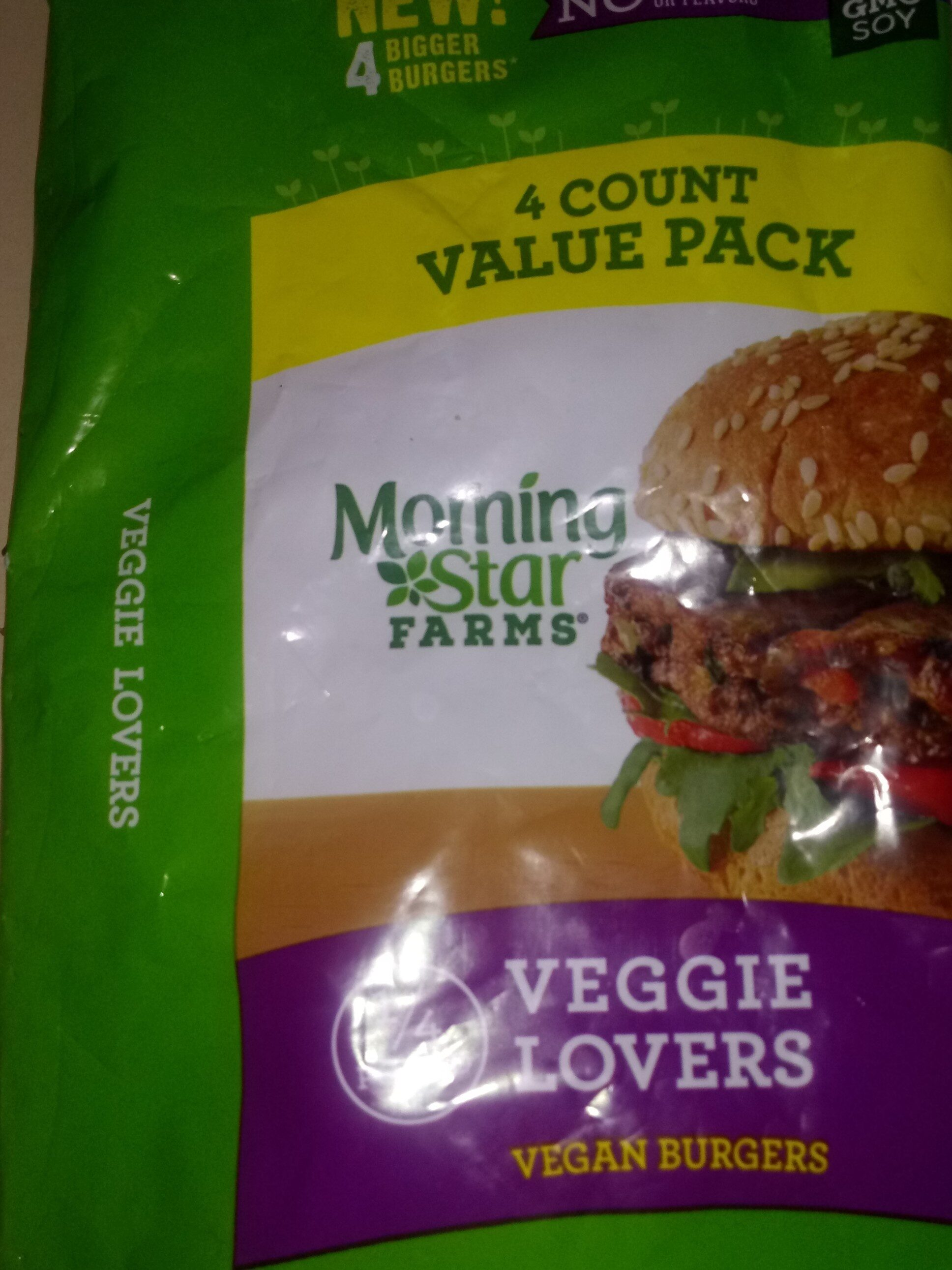 Morning Star Farms Veggie Lovers Veggie Burgers - Product