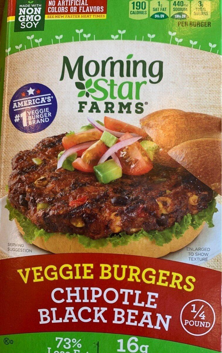 Morningstar Farms Veggie Burgers Spicy Black Bean 50.8oz - Produit - en