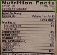 Morningstar Farms Breakfast Sausage Patties 42.8oz - Nutrition facts - en