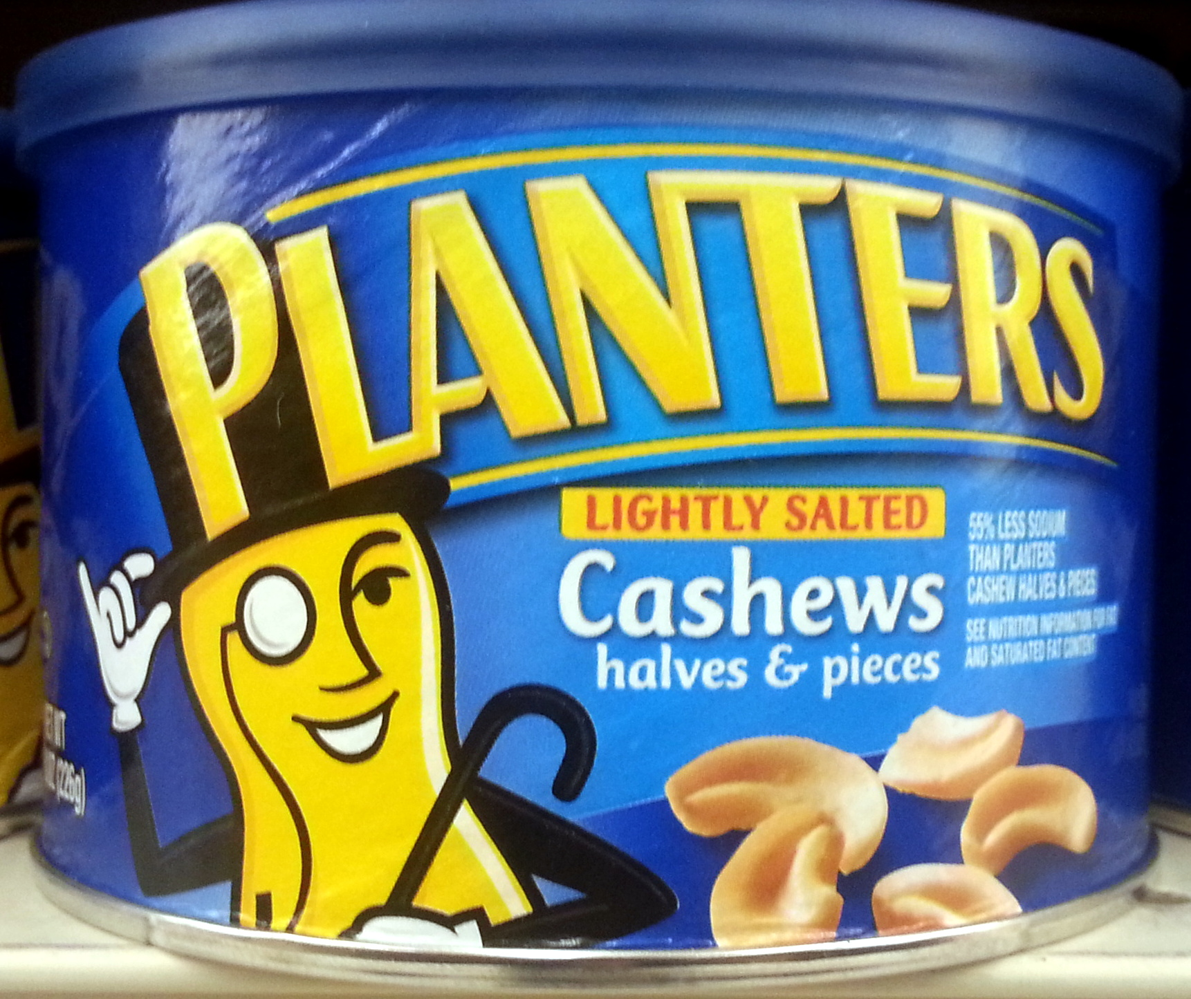 Planters, lightly salted cashews halves & pieces, lightly salted, lightly salted - Produit - en