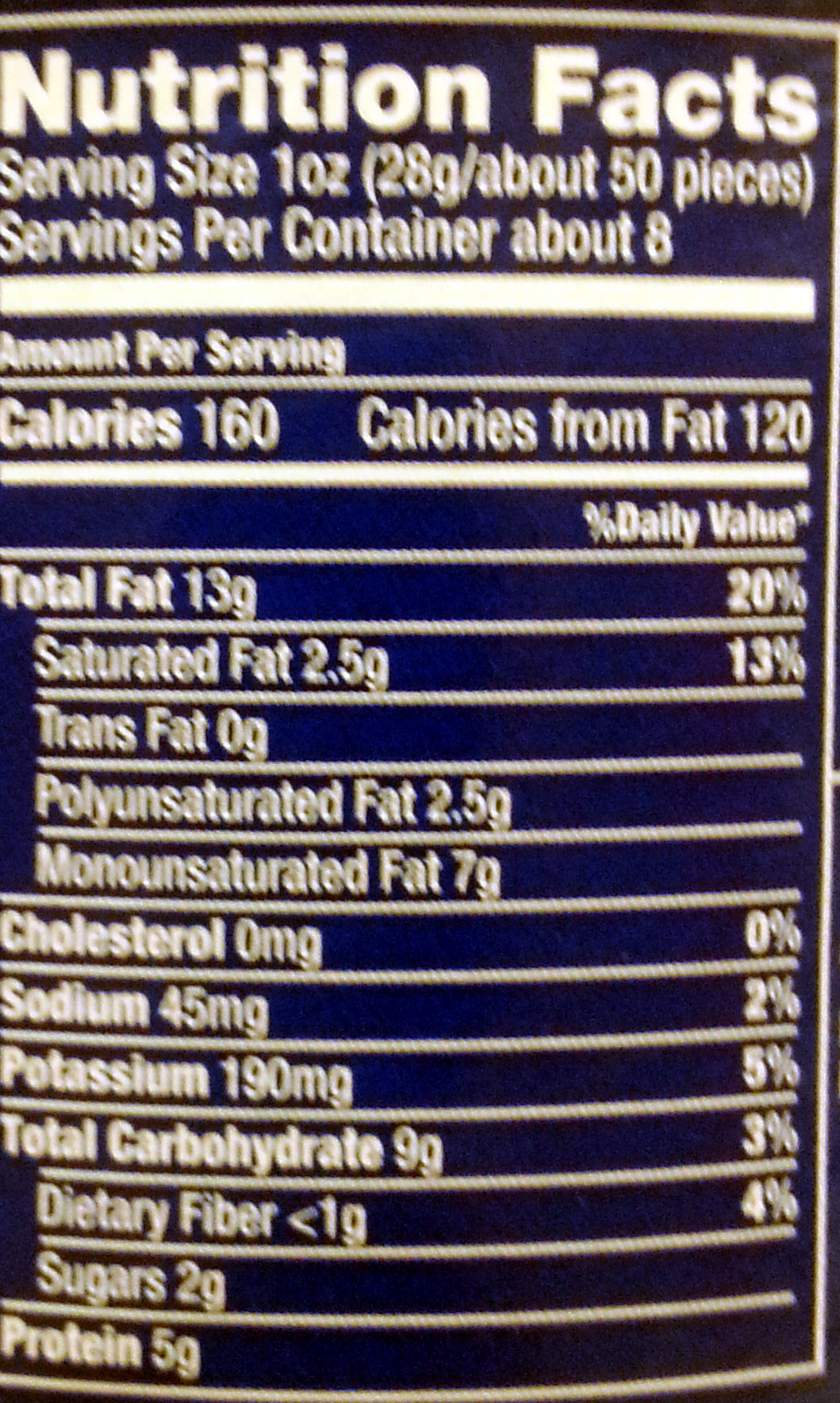 Planters, lightly salted cashews halves & pieces, lightly salted, lightly salted - Informations nutritionnelles - en