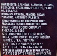 Deluxe mixed nuts, sea salt - Ingredients - en
