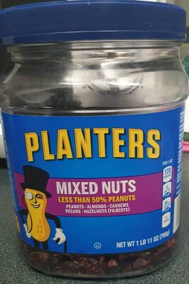 Mixed nuts peanuts, almonds, cashews, pecans, hazelnuts (filberts), mixed nuts - Producto - es