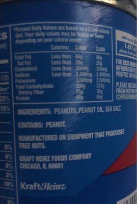 Cocktail Peanuts - Ingrédients
